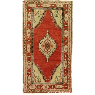 Pasargad DC Early 20th Century Antique Turkish Oushak - 1′10″ × 3′4″