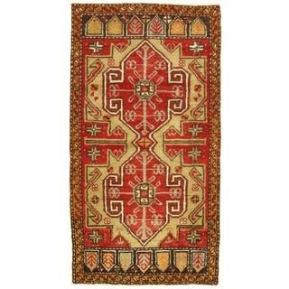 Pasargad DC Early 20th Century Antique Turkish Oushak - 1′9″ × 3′2″