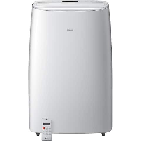 LG 115V Portable Air Conditioner with Dual Inverter Technology in White for Rooms up to 500-Sq. Ft.