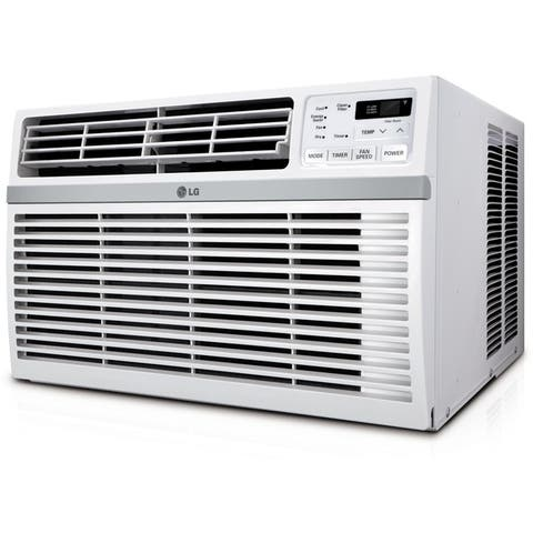 LG Energy Star Rated 8,200 BTU Window Air Conditioner with Remote Control in White