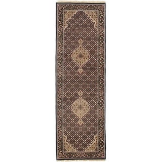 "Pasargad DC Fine Tabriz Mahi Design Silk & Wool - 2'6"" X 7'10"""