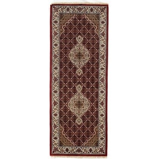 "Pasargad DC Fine Tabriz Mahi Design Silk & Wool - 2'6"" X 6'8"""