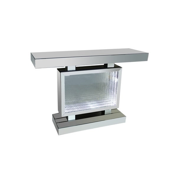 Best Quality Furniture Mirrored Rectangle Console Table with LED Lights