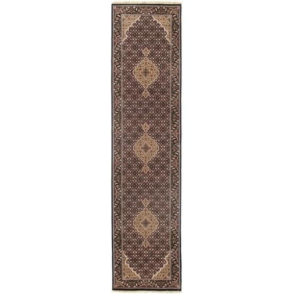 "Pasargad DC Fine Tabriz Mahi Design Silk & Wool - 2'5"" X 10'1"""