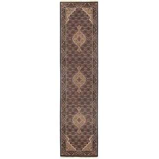"Pasargad DC Fine Tabriz Mahi Design Silk & Wool - 2'6"" X 10'2"""