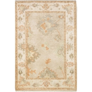 "Pasargad DC Indo Oushak Hand-Knotted Rug - 2'1"" x 3'1"""
