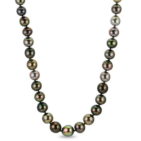 """PearLustre by Imperial 18"""" Natural Multi-color Tahitian Pearl Necklace"""