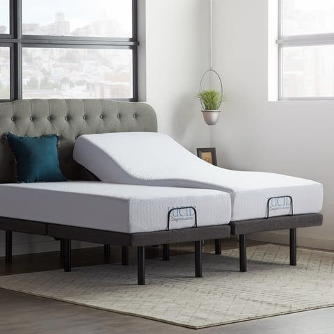 10-inch SureCool Gel Memory Foam Mattress and Deluxe Adjustable Bed Set by Lucid Comfort Collection