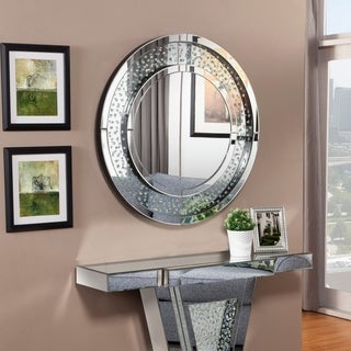 Best Quality Furniture Crystal Studded Wall Mirror - Silver