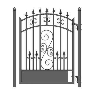 ALEKO Galvanized Steel Venice Style Pedestrian Gate 5'