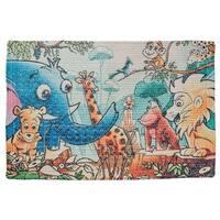 "Unbelievable Mats Friends in the Jungle Children's 20"" x 32"" Accent Rug - 20"" x 32"""