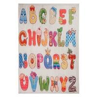 "Unbelievable Mats Children's Alphabet 20"" x 32"" Accent Rug - 20"" x 32"""