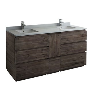 "Fresca Formosa 70"" Floor Standing Double Sink Modern Bathroom Cabinet"