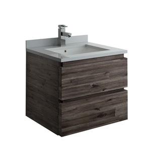 """Fresca Formosa 24"""" Wall Hung Modern Bathroom Cabinet w/ Top & Sink"""
