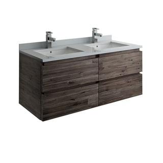 """Fresca Formosa 46"""" Wall Hung Double Sink Modern Bathroom Cabinet"""