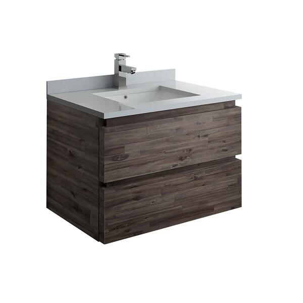"""Fresca Formosa 30"""" Wall Hung Modern Bathroom Cabinet w/ Top & Sink"""