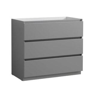 "Fresca Lazzaro 42"" Gray Free Standing Modern Bathroom Cabinet"