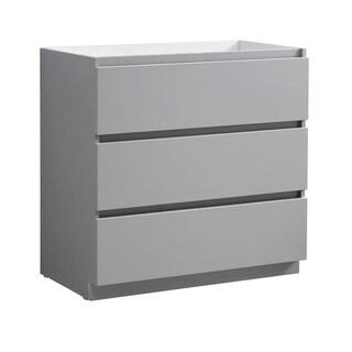 "Fresca Lazzaro 36"" Gray Free Standing Modern Bathroom Cabinet"