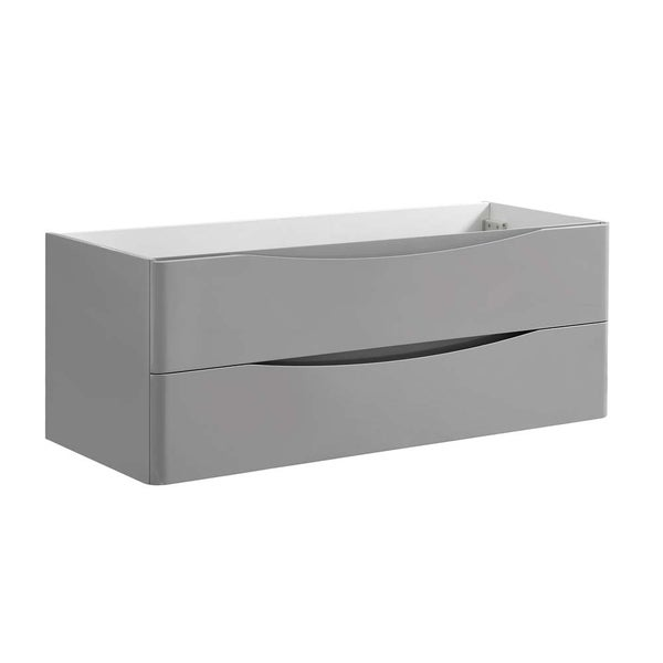 "Fresca Tuscany 48"" Glossy Gray Wall Hung Modern Bathroom Cabinet"