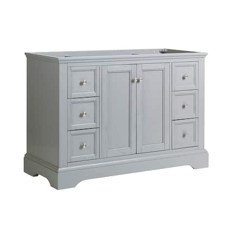 "Fresca Windsor 48"" Gray Textured Traditional Bathroom Cabinet"
