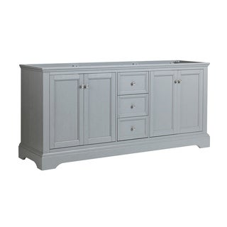 """Fresca Windsor 72"""" Gray Textured Traditional Double Sink Bathroom Cabinet"""