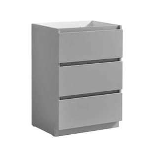 "Fresca Lazzaro 24"" Gray Free Standing Modern Bathroom Cabinet"