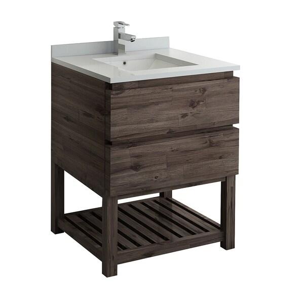 "Fresca Formosa 30"" Floor Standing Open Bottom Modern Bathroom Cabinet w/ Top & Sink"