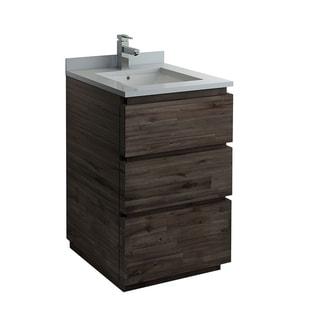 "Fresca Formosa 24"" Floor Standing Modern Bathroom Cabinet w/ Top & Sink"