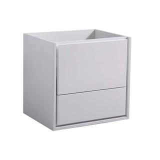 "Fresca Catania 24"" Glossy White Wall Hung Modern Bathroom Cabinet"