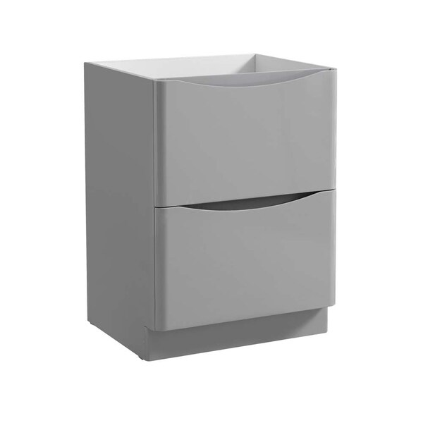 "Fresca Tuscany 24"" Glossy Gray Free Standing Modern Bathroom Cabinet"