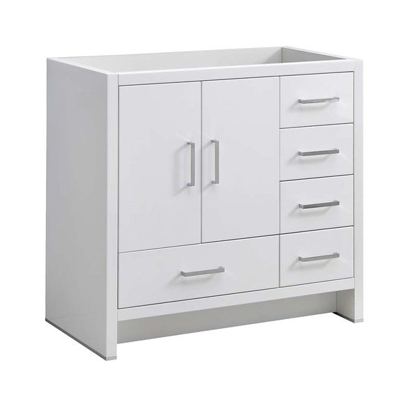 """Fresca Imperia 36"""" Glossy White Free Standing Modern Bathroom Cabinet - Right Version"""