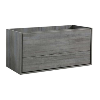 "Fresca Catania 48"" Ocean Gray Wall Hung Double Sink Modern Bathroom Cabinet"
