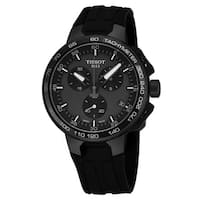 Tissot Men's T111.417.37.441.03 'T Race' Charcoal Dial Black Rubber Multifunction Cycling Quartz Watch