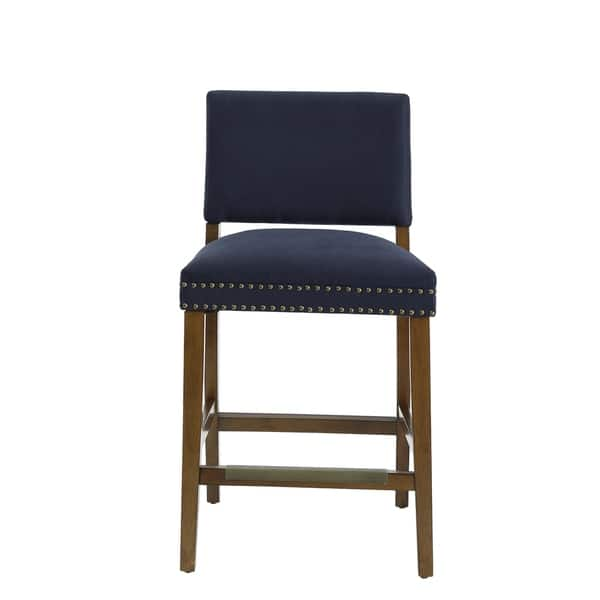 Terrific Shop Andale Navy Blue Counter Stool By Greyson Living On Inzonedesignstudio Interior Chair Design Inzonedesignstudiocom