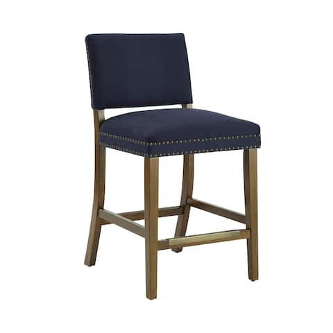 Andale Navy Blue Counter Stool by Greyson Living