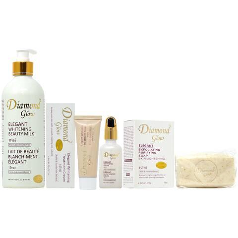 Diamond Glow Soap, Lotion, Serum & Cream Set