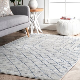 The Curated Nomad Kahlo Contemporary Abstract Geometric Trellis Area Rug