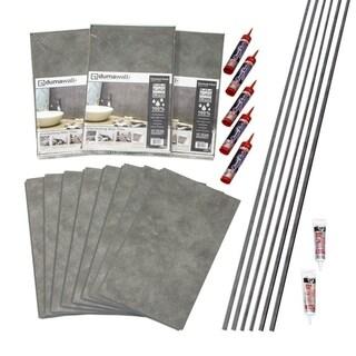 DumaWall Smoked Steel Shower Kit