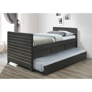 Best Quality Furniture Grey Storage Captains Bed