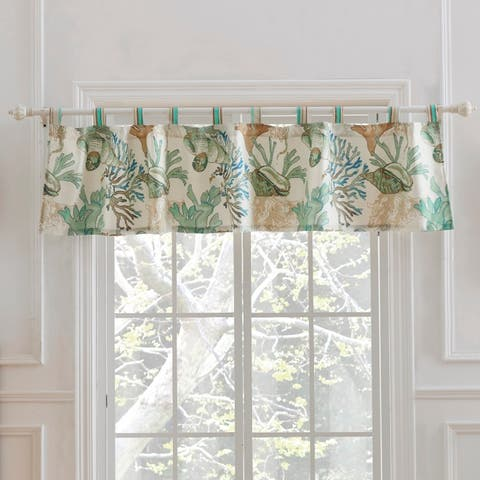 Porch & Den Gwinn Jade Green 84-inch Window Valance