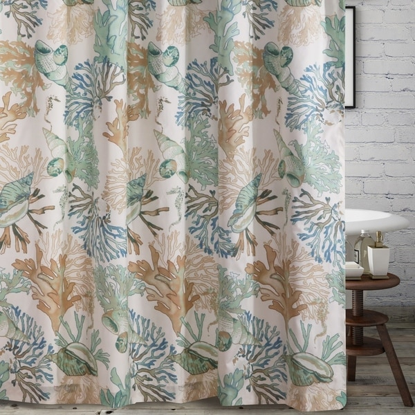 Barefoot Bungalow Atlantis Shower Curtain 72x72 Inch Jade