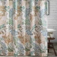 Porch & Den Gwinn Shower Curtain 72x72-inch, Jade