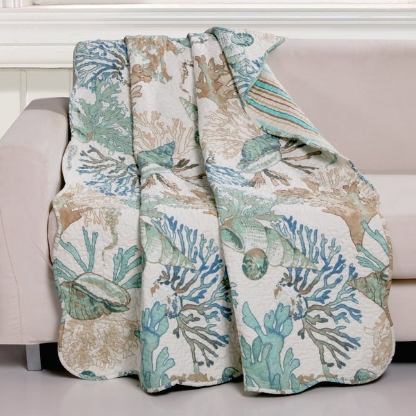Shop Barefoot Bungalow Atlantis Jade Coastal Throw Blanket