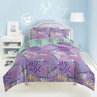 Dream Factory Slothing Around 3-piece Cotton Comforter Set - Purple