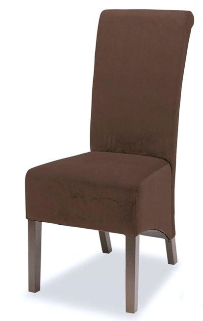 Shop Brown Microfiber Tuscany Dining Chairs Set Of 2