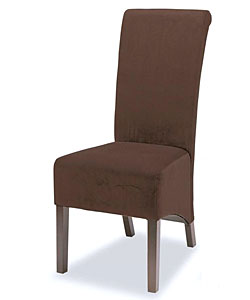 Brown Microfiber Tuscany Dining Chairs (Set of 2)