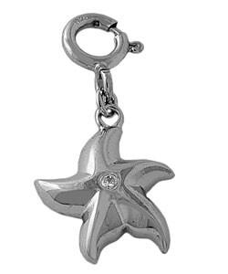 Fremada Sterling Silver CZ Starfish Charm