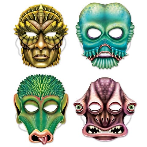 Beistle Space Theme Costume Party Alien Masks (Pack of 12)