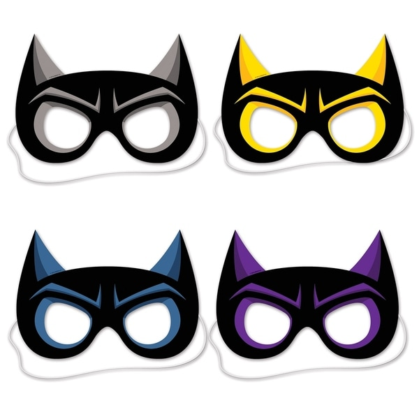 Beistle 8.5-inch Hero Costume Party Masks (Pack of 12)