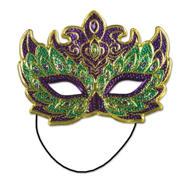 Beistle Mardi Gras Muticolor Costume Party Mask (Set of 12)